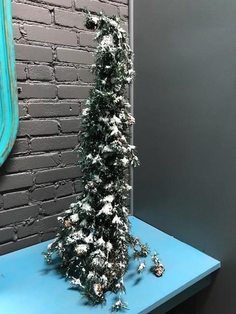 Decor Snowy Pine Tree, Large