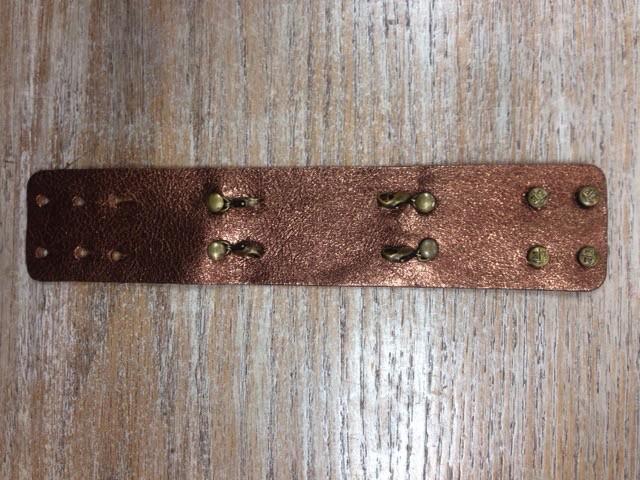 Jewelry Bronze Wide Leather Cuff