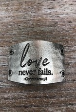 Jewelry Love Never Fails Sentiment