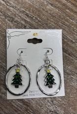 Jewelry Circle Christmas Tree Earrings
