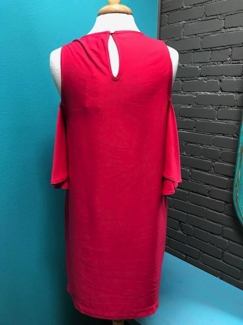 Dress Pink Cora Cold Shoulder Dress
