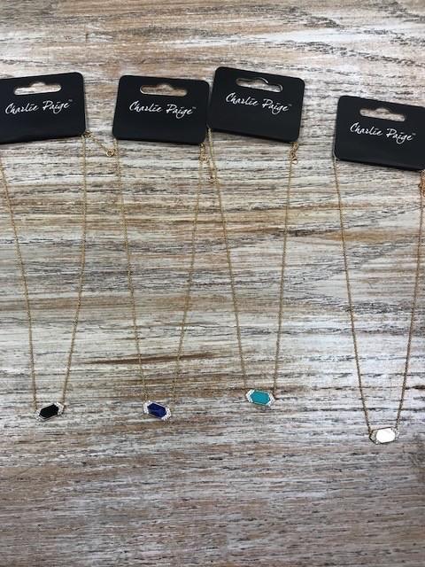 Jewelry Gold Necklace w/ Bar