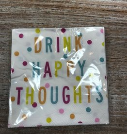 Kitchen Drink Happy Thoughts Napkins