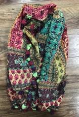 Scarf Multicolored Scarf w/ Tassels