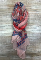 Scarf Diamond/Stripe Patterned Scarf