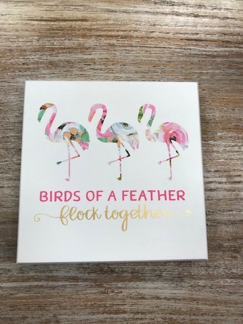 Decor Flock Together Sign 7x7