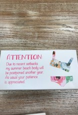 Decor Beach Body Sign 10x5