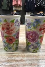 Mug Ceramic Floral Travel Mug