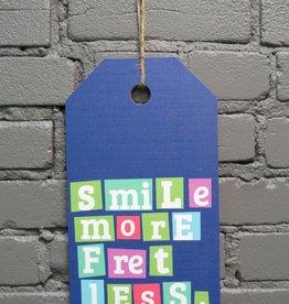 Decor Smile More Hang Tag