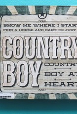 Decor Country Boy Wall Art
