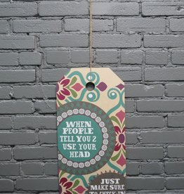 Decor When People Hang Tag