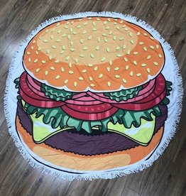 Towel Round Hamburger Beach Towel