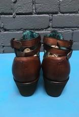 Boot Cognac Studs & Woven Mule