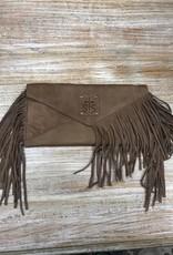 Purse Tan Envelope Clutch