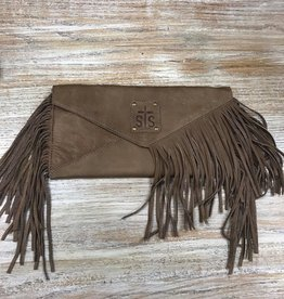Purse Tan Envelope Clutch