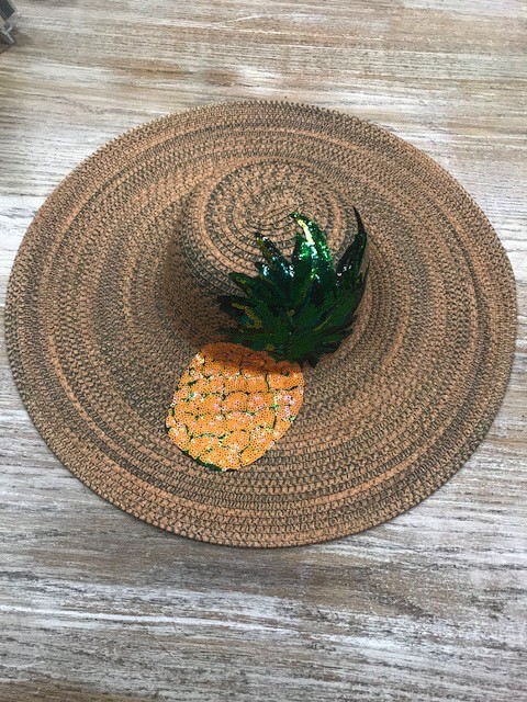 Hat Sequin Pineapple Floppy Hat