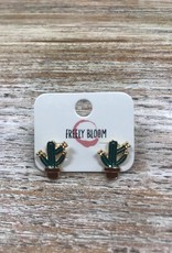 Jewelry Cartoon Cactus Earrings