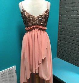 Dress Blush Sequin Chiffon Dress