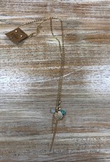 Jewelry Long Gold Necklace w/ Charms