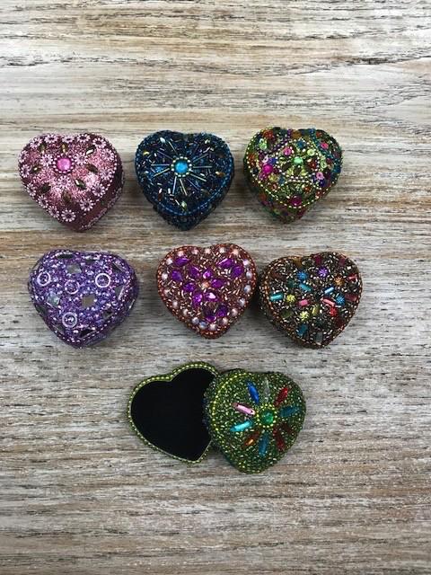 Decor Sequin Heart Trinket Box