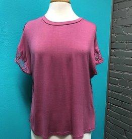 Shirt Plum Lace Back Shirt