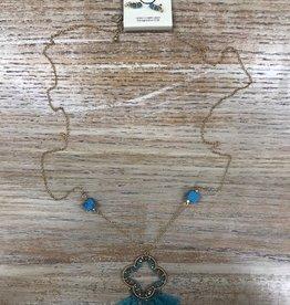 Jewelry Long Beaded/Tassel Necklace w/ Earrings