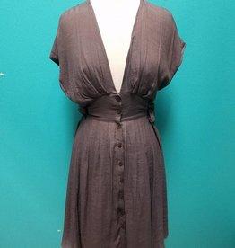 Dress Midnight Front Button Vintage Dress