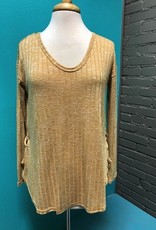 Long Sleeve Honey Ribbed LS w/ Tie Detail