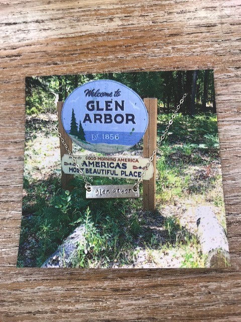 Jewelry Silver Bar Necklace, Glen Arbor
