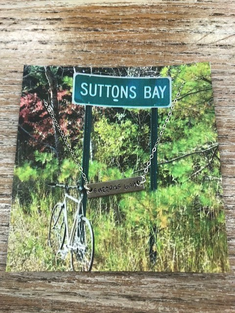 Jewelry Silver Bar Necklace, Suttons Bay