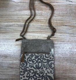 Bag Leaf Pattern Cross Body Bag
