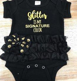 Kid's Glitter Is My Color Baby Onesie