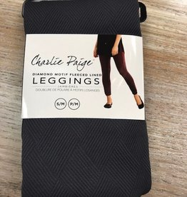 Leggings Fleeced Line Color Diamond Leggings