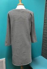Dress Black/White Stripe LS Dress