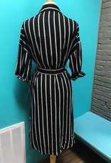 Dress Striped Button Down Pocket Dress