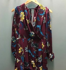 Long Sleeve Wine Floral LS Romper