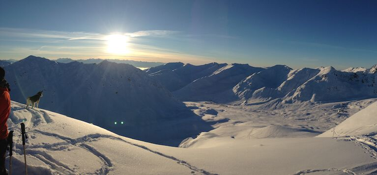 A Bluebird Day in Hatcher Pass