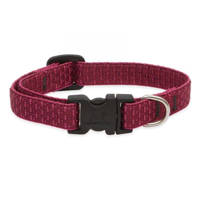 "Lupine Lupine Eco - Berry 1"" Width Collar Large 16""- 28"""