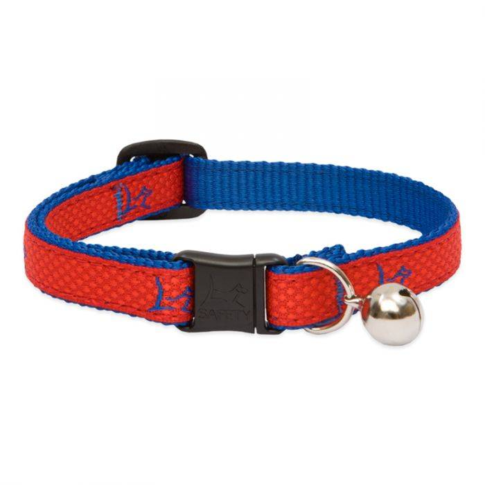 """Lupine Lupine Club - Derby Red - Cat Collar With Bell 8-12"""""""