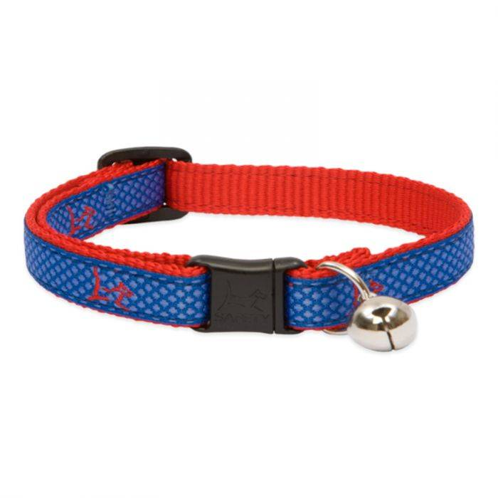 """Lupine Lupine Club - Newport Blue - Cat Collar With Bell 8-12"""""""