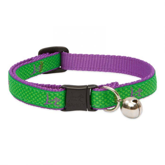 """Lupine Lupine Club - Augusta Green - Cat Collar With Bell 8-12"""""""