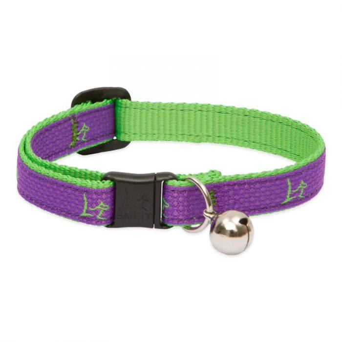 Lupine Lupine Club - Hampton Purple - Cat Collar With Bell 8-12""