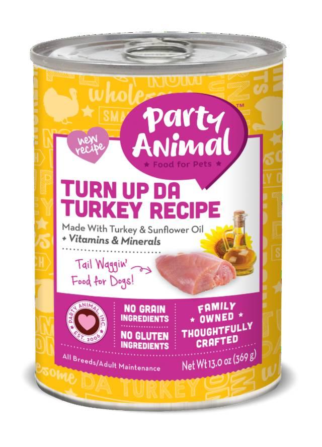 Party Animal Party Animal Organic Turn Up Da Turkey Dog Food, 13 oz can