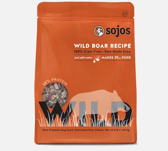Sojos Sojos Grain Free Wild Boar, 4 lb bag
