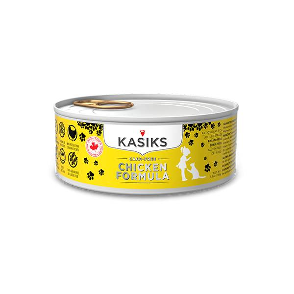 Kasiks Kasiks Cage Free Chicken Cat Can Food, 5.5 oz can