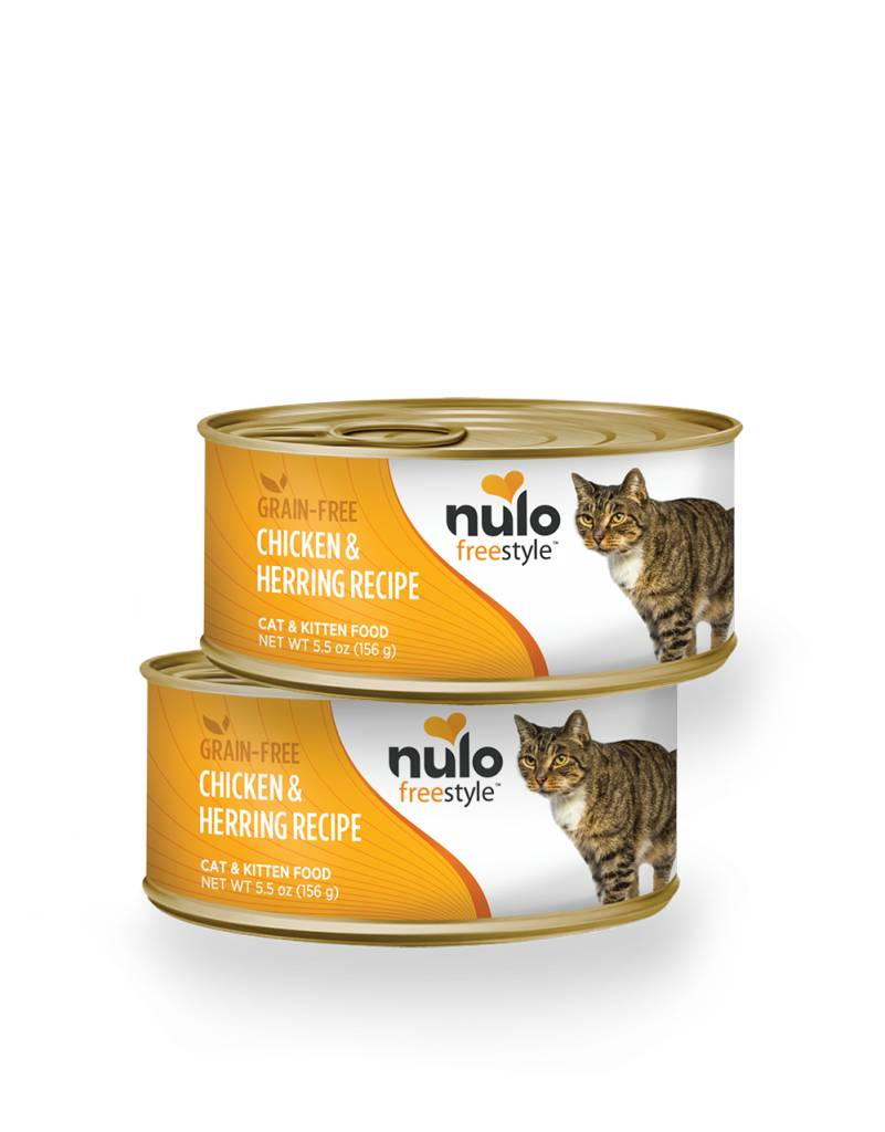 Nulo Nulo Freestyle Chicken & Herring Canned Cat & Kitten Food, 5.5 oz can