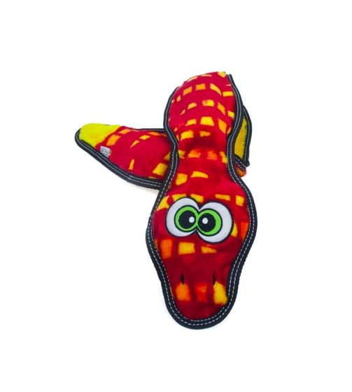 Outward Hound Outward Hound Toughseams Snake Dog Toy, 3 Squeak