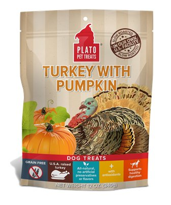 Plato Plato Pet Treats Turkey with Pumpkin, 12 oz bag Product Image