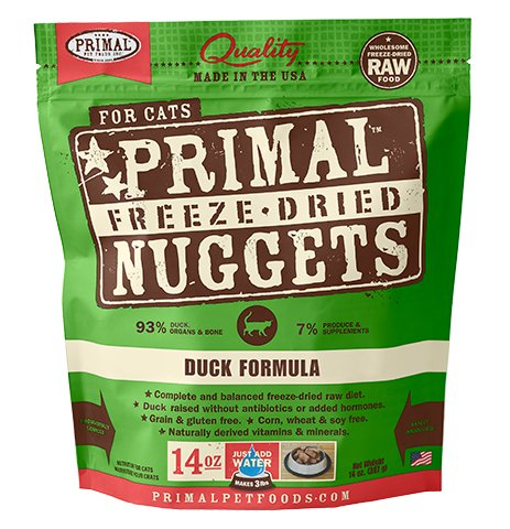 Primal Primal Freeze Dried Cat Food, Duck, 14 oz bag