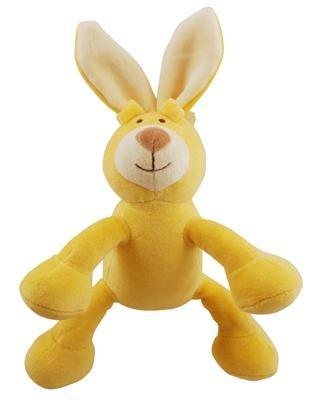 "Simply Fido Simply Fido Lucy 6"" Petite Yellow Bunny Squeaker"